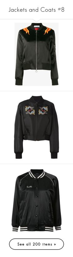 """Jackets and Coats #8"" by fortunem ❤ liked on Polyvore featuring outerwear, jackets, bomber jacket, coats, embroidery jackets, embroidered bomber jackets, bomber jackets, blouson jacket, flight jackets and sweaters"