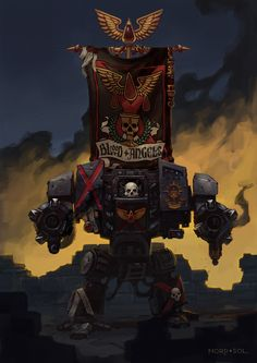 Blood Angels 2nd Company Dreadnought by Nord-Sol