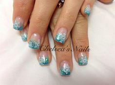 Aqua Snowflakes - Nail Art Gallery