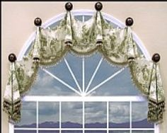 curtains for curved topped windows | PALLADIAN WINDOW CURTAINS | Curtain Rods. Longer for kitchen window.