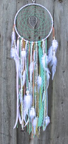 Large Dreamcatcher Pink Purple and Green by VagaBoundPeople, $37.00