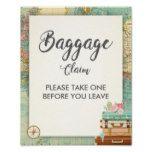 Baggage Claim Sign Travel shower Miss to Mrs Favor #weddinginspiration #wedding #weddinginvitions #weddingideas #bride