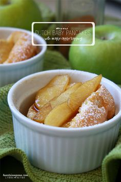 Hearts in My Oven: Mini Dutch Babies Pancakes with Maple Apple Topping @Lynn Ankele H
