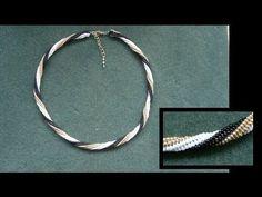 ▶ Beading4perfectionists : Herringbone stich with a twirl miyuki seedbeads beaded tutorial - YouTube