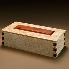 Decorative Boxes : Custom Made Curly Maple Salvaged Box -Read More – Small Wooden Boxes, Wooden Jewelry Boxes, Small Boxes, Wood Boxes, Jewellery Boxes, Woodworking Jewellery Box, Woodworking Box, Wood Box Design, Decorative Wooden Boxes