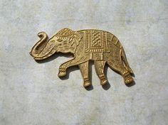 Elephant Stamping  Brass Findings  Enameling by 2VintageGypsies