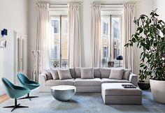 Louis small - Modular sofas - Meridiani Srl