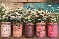 Ensemble de cinq Vases de bocal à conserves par VintageDaisyHome