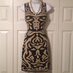 Tank style sweater dress Brand new never worn  w/o tags Black & Tan Tank Style Sweater Dress. Stilletto's Dresses Midi