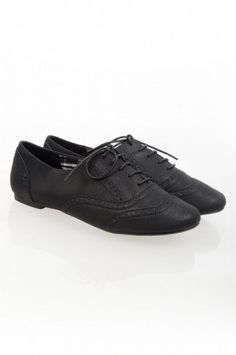 Black Lace Up Brogue