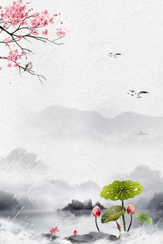 Summer Background Images, Chinese Background, Summer Backgrounds, Background Templates, Background Ppt, Lotus Vector, Beginning Of Spring, Spring Images, Lotus Pond