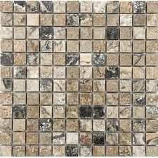 """1"""" x 1"""" Stone Mosaic Tile in Antico Polished"""