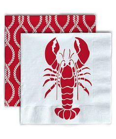 Loving this Lobster Beverage Napkin - Set of 40 Red entertaining party supply