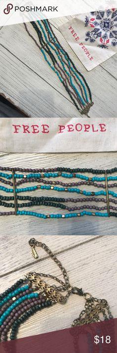 Free People Choker Beautiful chunky Choker.  Worn once! Adjustable Free People Jewelry Necklaces