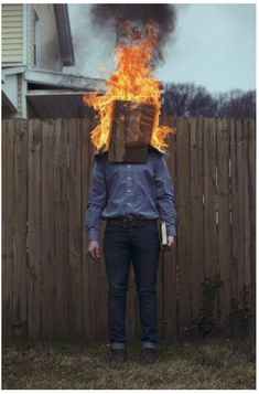 Photographer Christopher McKenney shocks at first with his odd images, but he really is communicating very commonplace situations we all face. Fire Photography, Surrealism Photography, Creative Photography, Portrait Photography, Horror Photography, Faceless Portrait, Creepy Photos, Foto Art, Weird And Wonderful
