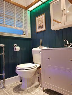 Mood lighting, wooden cladding, traditional floor tiles..... Wooden Cladding, Relaxing Bathroom, Traditional Bathroom, Bathroom Ideas, Tile Floor, Toilet, Mood, Flooring, Lighting