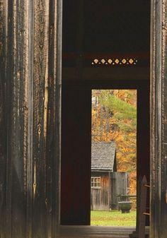 Barn Door View Of Fall