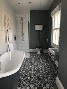 Victorian grey period bathroom cast iron bath in 2019 Victorian bathroom, Bathroom, Small bathroom Upstairs Bathrooms, Grey Bathrooms, White Bathroom, Beautiful Bathrooms, Modern Bathroom, Master Bathroom, Luxurious Bathrooms, Minimal Bathroom, Marble Bathrooms