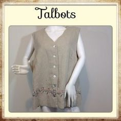 I just discovered this while shopping on Poshmark: Talbots vest, Sz 2 X. NWOT. Check it out! Price: $25 Size: 2X