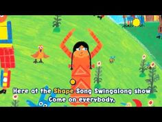 all the animated barefoot singalong books are posted on youtube! many of them have the words on the screen too; The Shape Song Swingalong