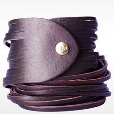 linea pelle dbl wrap bracelet