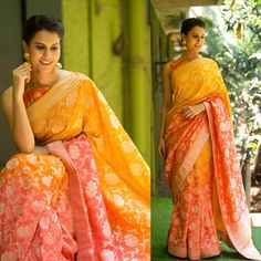 Pure Banarasi Georgette Saree