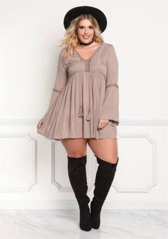 Casual but comfy plus size fall outfits ideas 63