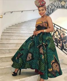 South African actress Nomzamo Mbatha shares stylish African print dresses and pantsuit ideas. Nomzamo's Ankara style outfits and beauty looks African Print Dresses, African Print Fashion, African Fashion Dresses, African Attire, African Dress, African Prints, African Style, African Clothes, Ankara Fashion