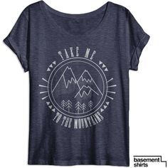 Weekend Womens Shirt Take Me to the Mountains Outdoors Shirt Hiking... ($14) ❤ liked on Polyvore featuring tops, t-shirts, navy, women's clothing, t shirt, checkered shirt, thin t shirts, tee-shirt and dolman shirt