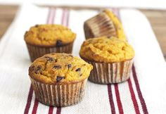 Pumpkin Muffins with Chocolate Chips (Grain Free, Paleo, Primal)