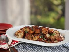 Bobby Flay's Sarladaise Home Fries | Brunch at Bobby's. A great, simple fried potato recipe, and he said if you don't have or don't want to use duck fat, just cook it in canola oil, a little olive oil, and then throw in some butter at the end.