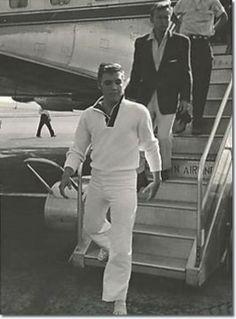 Elvis with Nick Adams...Memphis airport...1956/57