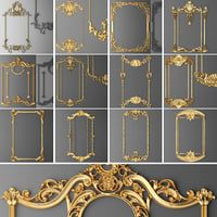 Frame Cartouches SET Model available on Turbo Squid, the world's leading provider of digital models for visualization, films, television, and games. Baroque Ornament, Diy Furniture Repair, Decoration Baroque, Decorative Plaster, 3d Cnc, 3d Modelle, Wood Carving Designs, Condo Decorating, Decorating Rooms
