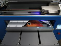 Printing a fish tail with our new Go Vivid UV Printer! #SignaramaAnderson