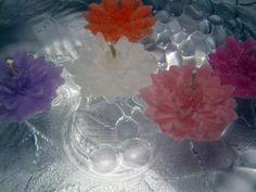 Úszógyertyák - Krizantém 6 db-os csomag, Dekoráció, Esküvő, Otthon, lakberendezés, Gyertya, mécses, gyertyatartó, Meska