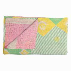 Handstitched Sari Cotton Quilt multi