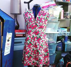 SOIshowoff July: really pretty summer dress, the Sew Over It Vintage Shirt Dress