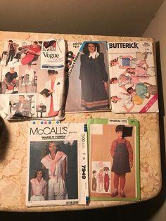 VINTAGE 80's & 90's 5 VOGUE, BUTTERICK, ESP, SIMPLICITY, & MCCALL'S PATTERNS  | eBay
