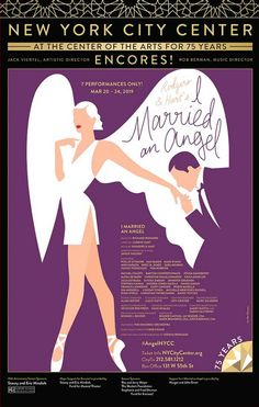 Official window card poster from Encores 2019 production of I Married An Angel. Measures 14 x 22 inches. Printed on glossy cardstock and shipped flat in extra protective packaging to prevent damage to the poster during transit. Would you like your...