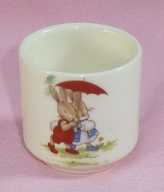 One Vintage Royal Doulton 1936 Bunnykins English Bone China Egg Cup by BirdsVintageMedley, $19.99