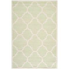 Safavieh Handmade Moroccan Cambridge Light Green/ Ivory Wool Rug (8' x 10')   Overstock.com Shopping - Great Deals on Safavieh 7x9 - 10x14 Rugs