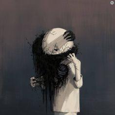 Alguém lidando com o seu trauma