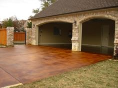 DIY Stained Concrete – How To Revitalize Any Concrete Surface | http://diyfunideas.com/diy-stained-concrete-how-to-revitalize-any-concrete-surface/