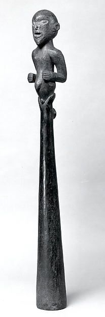 Trumpet: Figurative Finial Date: 19th–20th century Geography: Cameroon, Northern region, Donga River region Culture: Mambila peoples Medium: Wood, cane
