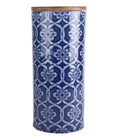 Love this Blue Medallion 11'' Ceramic Canister by Housewares International on #zulily! #zulilyfinds