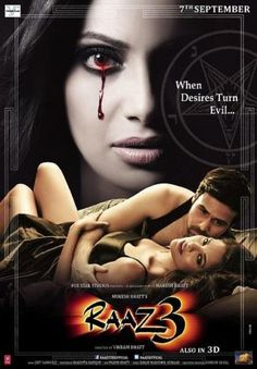 Raaz 3 is a Bollywood horror thriller film directed by Vikram Bhatt, and produced by Mahesh Bhatt and Mukesh Bhatt.[5]. The movie features Bipasha Basu, Emraan Hashmi and Esha Gupta as main characters.