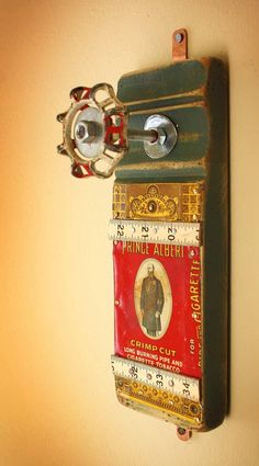 Coat Rack Wall Hanger Garden Faucet Handle Green Prince Albert Tin Repurposed Upcycled Recycled Baseboard Distressed