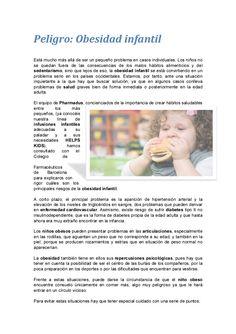 Peligro: Obesidad infantil by Pharmadus (Procesos Farmacéuticos Industriales) via slideshare