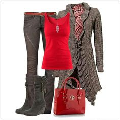 CHATA'S DAILY TIP: Knitted cardigans can either look 'Granny' or 'Modern / Bohemian', depending on how you style them. Adding bright colours and on-trend accessories, together with wedged or heeled boots, creates a look that is current and sexy! COPY CREDIT: Chata Romano Image Consultant, Leandra Roelofsz http://chataromano.com/consultant/leandra-roelofsz/ IMAGE CREDIT: Pinterest