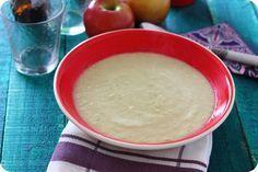 Crema de apio y manzana, receta ligera paso a paso